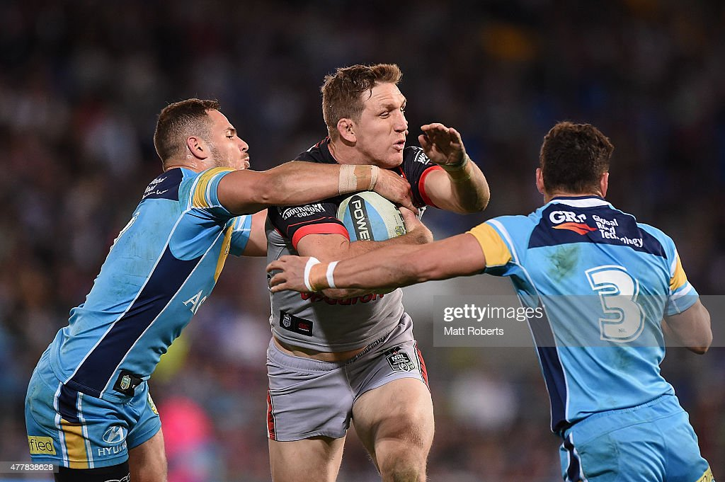 NRL Rd 15 - Titans v Warriors