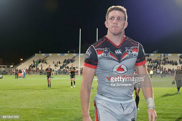 Ryan Hoffman of the Warriors looks dejected after the defeat in the round 10 NRL match between the Penrith Panthers and the New Zealand Warriors at...