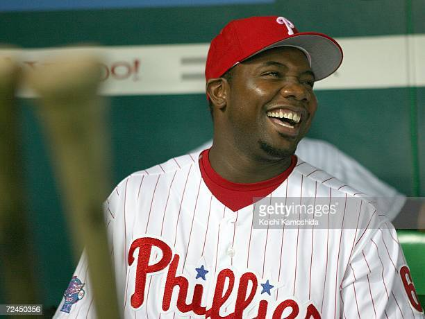 Ryan Howard of of the Philadelphia Phillies is seen during the Aeon All Star Series Day 5 MLB v Japan AllStars at Fukuoka Yahoo Japan Dome on...