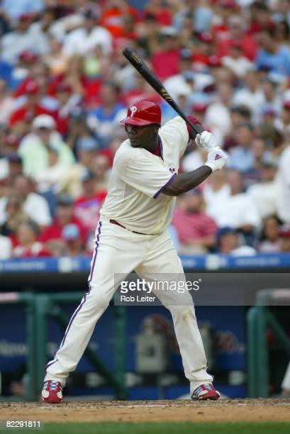 July 26: Ryan Howard of the Philadelphia Phillies bats during the game against the Atlanta Braves at Citizens Bank Park in Philadelphia, Pennsylvania...