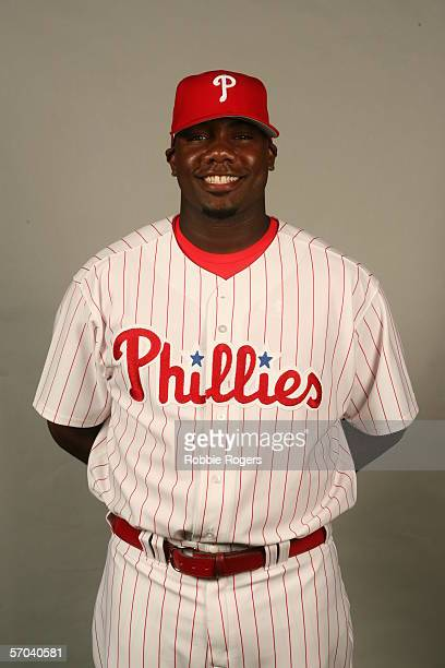 Ryan Howard of the Philadelphia Phillies during photo day at Bright House Networks Field on February 23 2006 in Clearwater Florida
