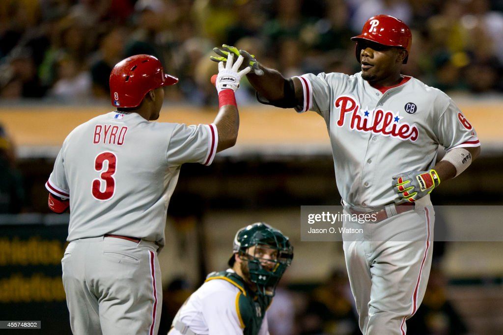 Philadelphia Phillies v Oakland Athletics : News Photo