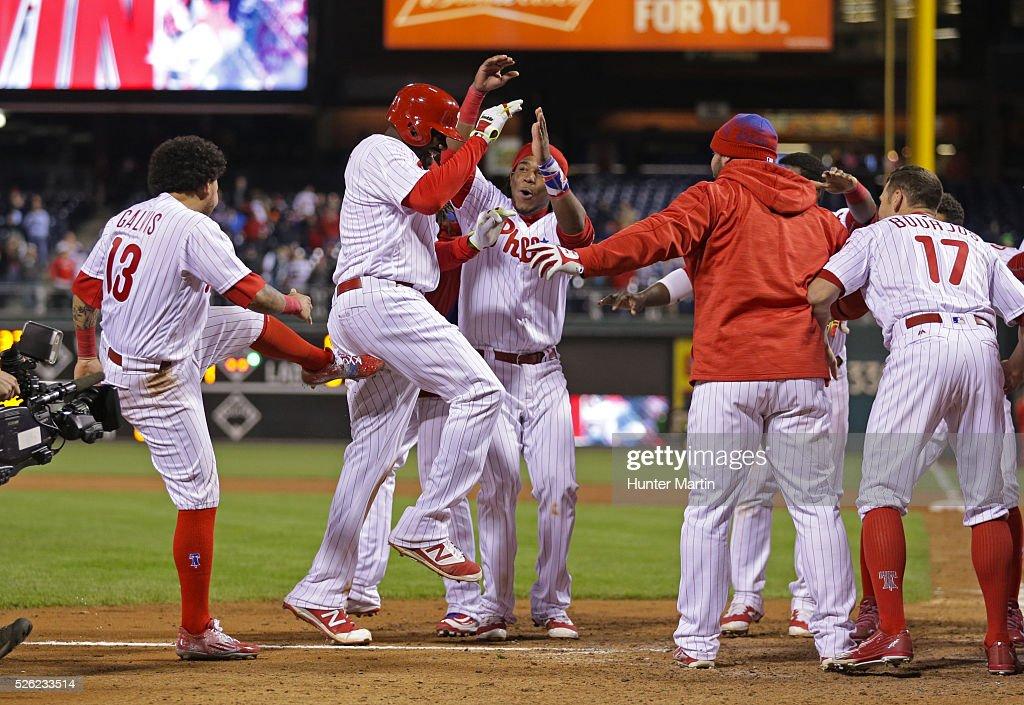 Cleveland Indians v Philadelphia Phillies : News Photo
