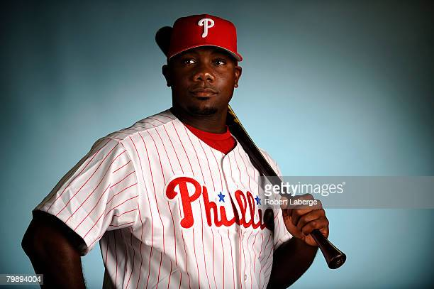 Ryan Howard of the Philadelphia Phillies poses for a portrait during the spring training photo day on February 21, 2008 at Bright House Field in...