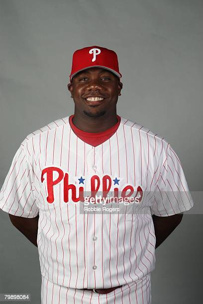 Ryan Howard of the Philadelphia Phillies poses for a portrait during photo day at Bright House Networks Field on February 21, 2008 in Clearwater,...