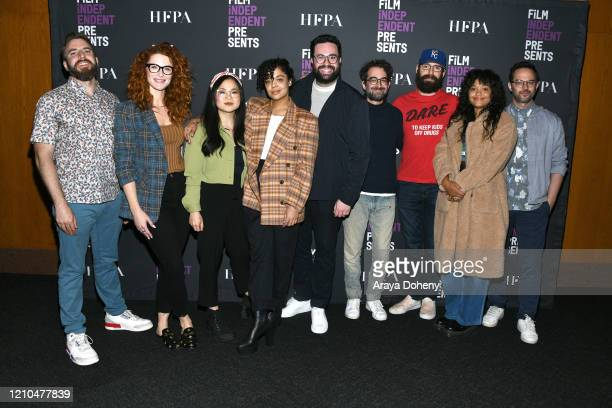 Ryan Hunter, Bridget Regan, Kelly Marie Tran, Tessa Thompson, Brett Haley, Jay Duplass, Martin Starr, Kiersey Clemons and Nick Kroll at the Film...