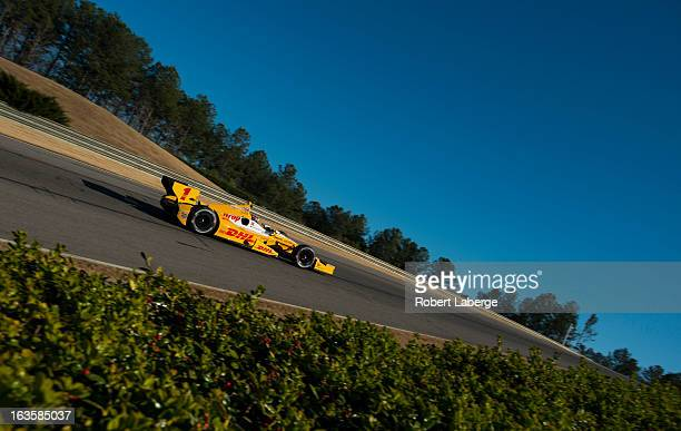 Ryan Hunter-Reay driver of the Andretti Autosport Dallara Chevrolet during Day One of IZOD IndyCar Series testing at Barber Motorsports Park on March...