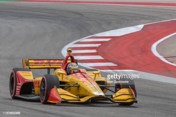 Ryan HunterReay of Andretti Autosport driving a Honda races through turn 15 during the IndyCar Classic at Circuit of the Americas on March 24 2019 in...