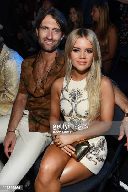 Ryan Hurd and Maren Morris attend the 2019 CMT Music Awards at Bridgestone Arena on June 05 2019 in Nashville Tennessee