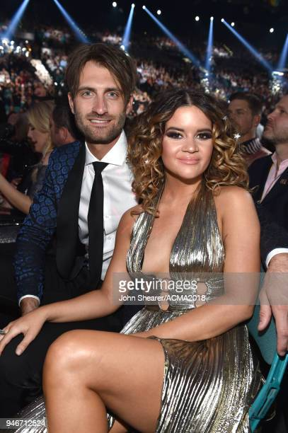 Ryan Hurd and Maren Morris attend the 53rd Academy of Country Music Awards at MGM Grand Garden Arena on April 15 2018 in Las Vegas Nevada