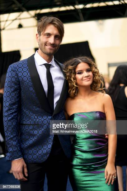 Ryan Hurd and Maren Morris attend the 53rd Academy of Country Music Awards t on April 15 2018 in Las Vegas Nevada