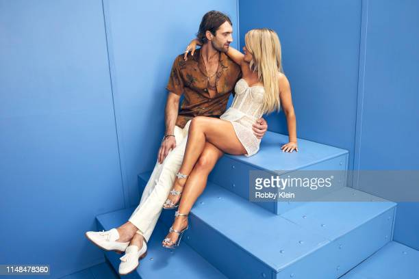 Ryan Hurd and Maren Morris poses for a portrait during the 2019 CMT Music Awards at Bridgestone Arena on June 5 2019 in Nashville Tennessee