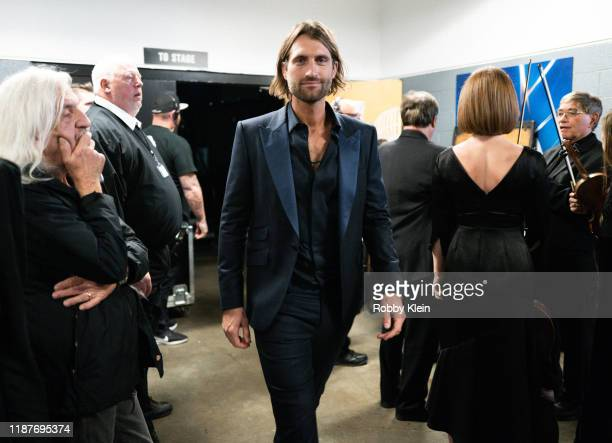 Ryan Hurd backstage during the 53rd annual CMA Awards at Bridgestone Arena on November 13 2019 in Nashville Tennessee
