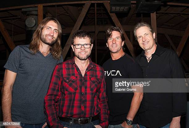 Ryan Hurd Lee Thomas Miller Brett James and Jim Collins attend the CMA Songwriters Series at Joe's Bar on July 30 2015 in Chicago Illinois