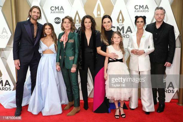 Ryan Hurd Maren Morris Brandi Carlile Catherine Shepherd Natalie Hemby Sammie Jo Hemby Amanda Shires and Jason Isbell attend the 53nd annual CMA...