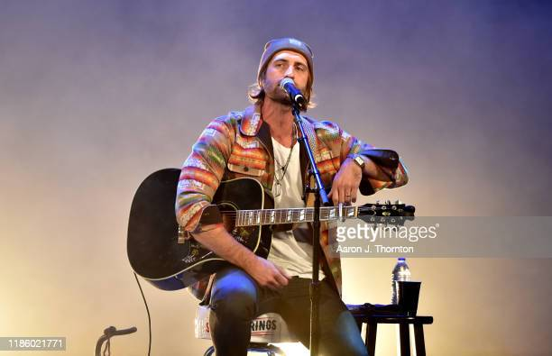 "Ryan Hurd performs on stage during ""Stars and Strings Presented by RAM Trucks Built to Serve"" a RADIOCOM Event at the Fox Theatre on November 06 2019..."