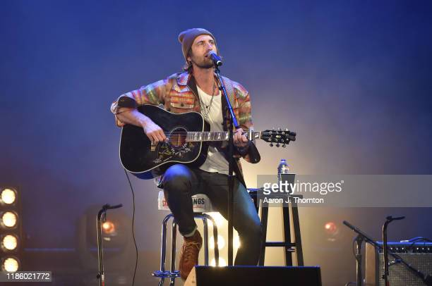 "Ryan Hurd performs on stage during ""Stars and Strings Presented by RAM Trucks Built to Serve,"" a RADIO.COM Event, at the Fox Theatre on November 06,..."