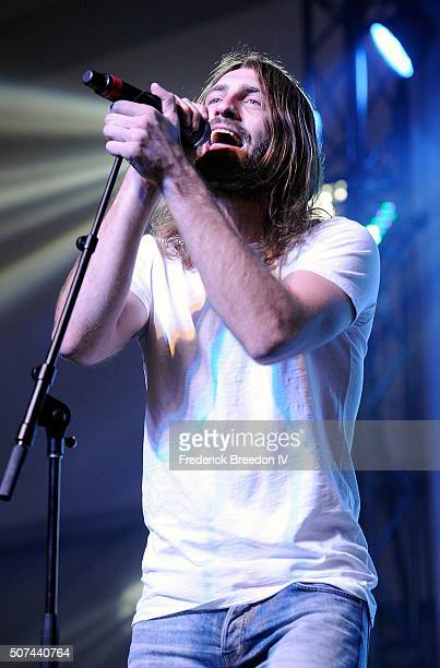 Ryan Hurd performs on the Honda Stage at the NHL Fan Fair presented by Bridgestone at the Music City Center on January 29 2016 in Nashville Tennessee
