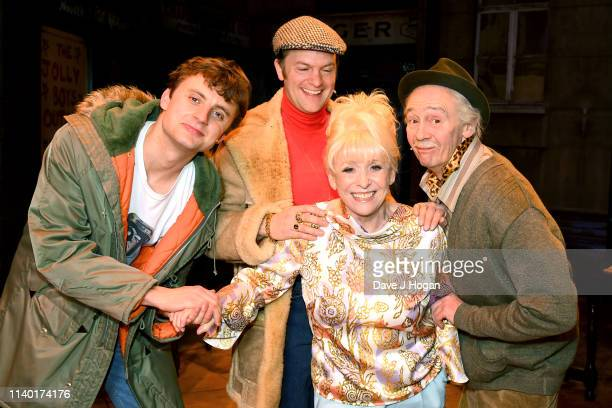 Ryan Hutton Barbara Windsor Tom Bennett and Paul Whitehouse pose as Barbara Windsor meets the cast of The Only Fools and Horses the Musical on April...