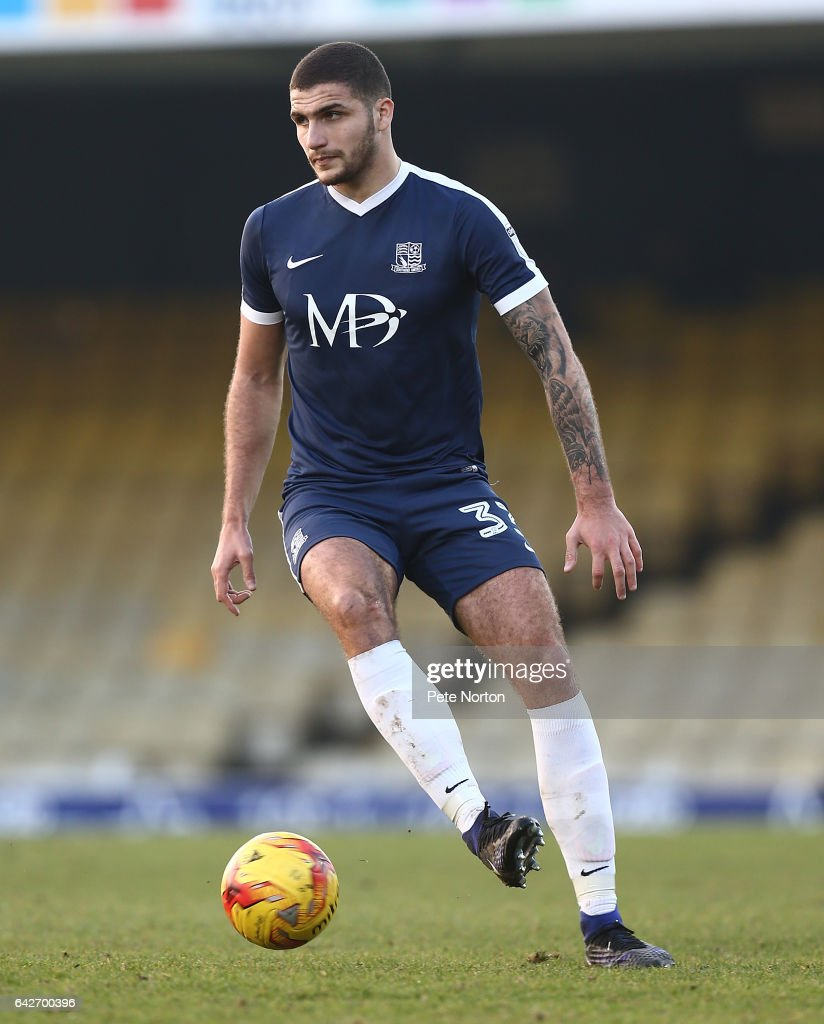 Ryan Inniss of Southend United in action during the Sky Bet League One match between Southend United and Northampton Town at Roots Hall on February 18, 2017 in Southend, England.