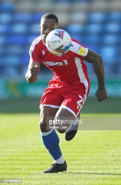 Ryan Jackson of Gillingham FC in action during the Sky Bet League One match between Portsmouth and Gillingham at Fratton Park on February 27, 2021 in...