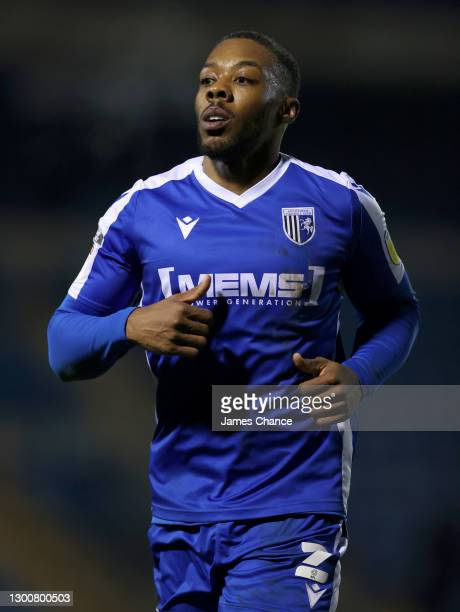 Ryan Jackson of Gillingham FC looks on during the Sky Bet League One match between Gillingham and Lincoln City at MEMS Priestfield Stadium on...