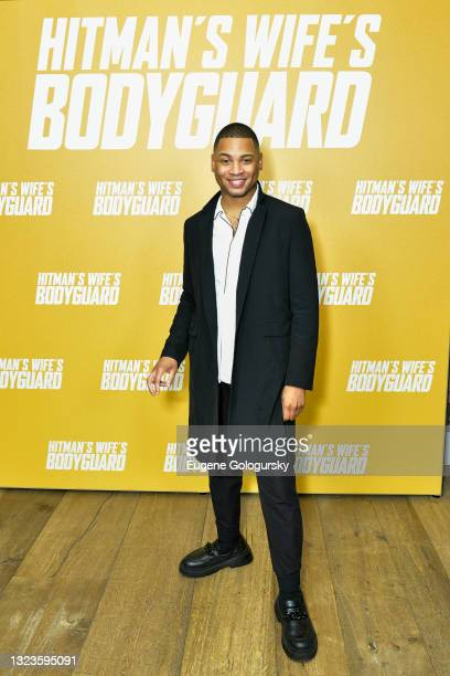 """Ryan Jamaal Swain attends the """"Hitman's Wife's Bodyguard"""" special screening at Crosby Street Hotel on June 14, 2021 in New York City."""