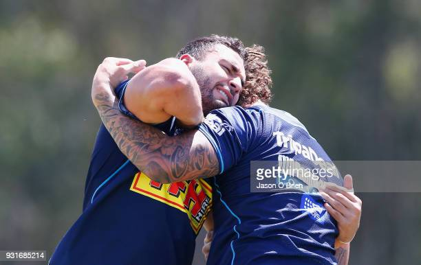 Ryan James during a Gold Coast Titans NRL training session at Parkwood on March 14 2018 in Gold Coast Australia