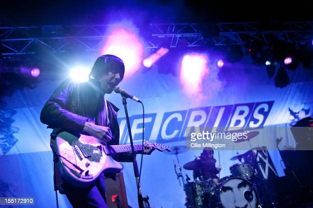 Ryan Jarman and Ross Jarman of The Cribs perform on stage during a date of their November 2012 UK Tour at O2 Academy Leicester on November 1, 2012 in...