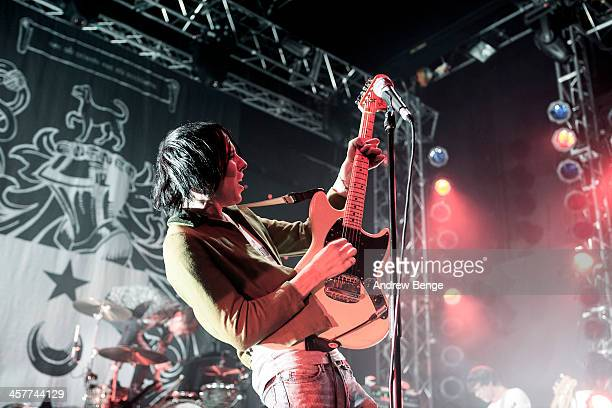 Ryan Jarman of The Cribs performs on stage at O2 Academy on December 18 2013 in Leeds United Kingdom