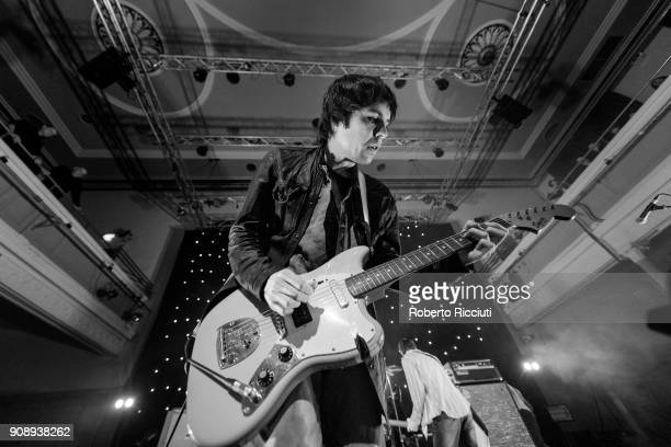Ryan Jarman of The Cribs performs on stage at The Queen's Hall on January 22, 2018 in Edinburgh, Scotland.