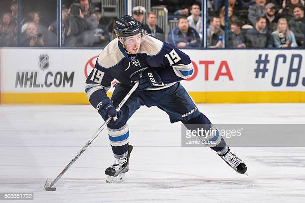 Ryan Johansen of the Columbus Blue Jackets skates against the Dallas Stars on December 29 2015 at Nationwide Arena in Columbus Ohio