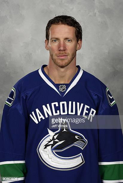 Ryan Johnson of the Vancouver Canucks poses for his official headshot for the 20092010 NHL season in Vancouver British Columbia Canada