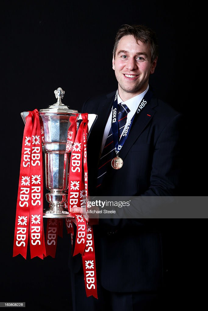 Ryan Jones poses with the Six Nations trophy following his team's victory during the RBS Six Nations match between Wales and England at Millennium Stadium on March 16, 2013 in Cardiff, Wales.