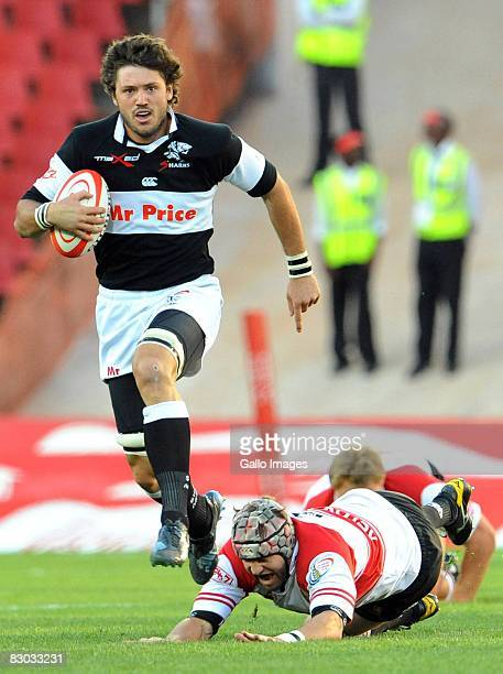 Ryan Kankowski of the Sharks runs with the ball during the Absa Currie Cup match between Lions and Sharks held at Coca Cola Park on September 27,...