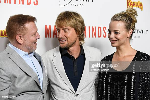 Ryan Kavanaugh Owen Wilson and Jessica Roffey attend the Premiere of Relativity Media's Masterminds at TCL Chinese Theatre on September 26 2016 in...
