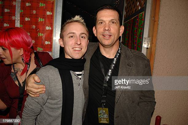 Ryan Kay and Mark Didia during KROQ Almost Acoustic Christmas 2006 Night 1 Backstage at Gibson Amphitheatre in Universal City California United States