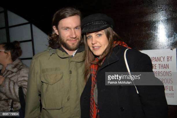 Ryan Kearney and Cindy Greene attend the Michael Stipe's/Dazed and Confused Magazine's Drinks and Dancing Party at Hiro on February 10 2004 in New...