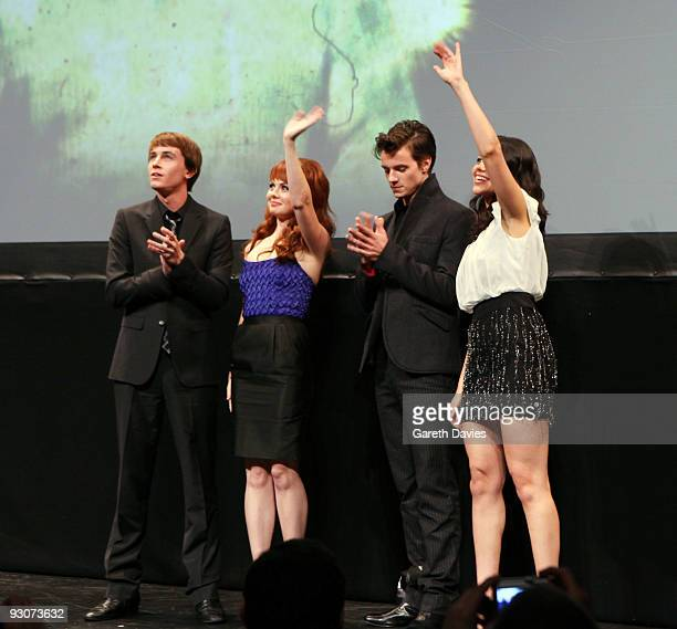 Ryan Kelley Galadriel Steinman Nathan Keyes and Alyssa Diaz of 'Ben 10 Alien Swarm' attend the Ben 10 Awards at the Unicorn Theatre on November 15...