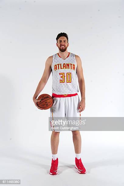 Ryan Kelly of the Atlanta Hawks poses for a portrait during the 20162017 Atlanta Hawks Media Day on September 26 2016 at The W Hotel in Atlanta...