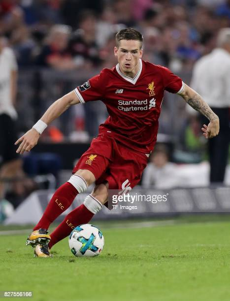 Ryan Kent of Liverpool controls the ball during the Audi Cup 2017 match between Liverpool FC and Atletico Madrid at Allianz Arena on August 2 2017 in...