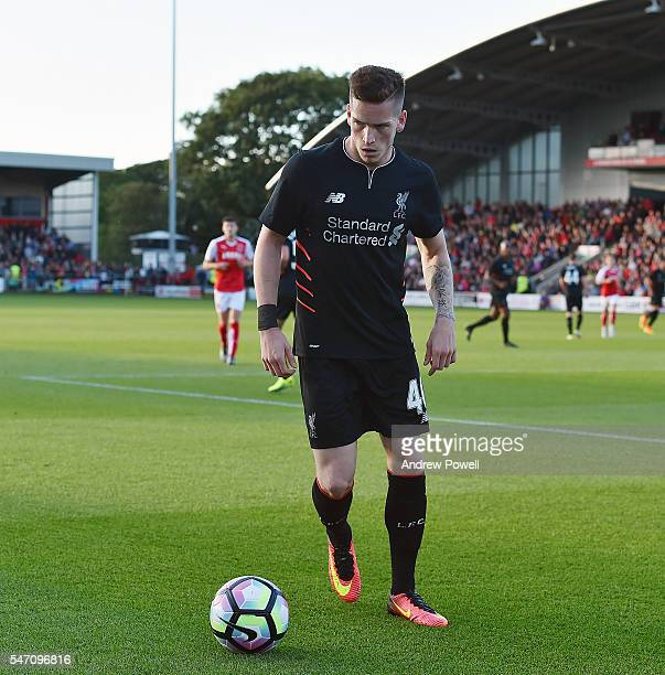 Ryan Kent of Liverpool during the PreSeason Friendly match bewteen Fleetwood Town and Liverpool at Highbury Stadium on July 13 2016 in Fleetwood...
