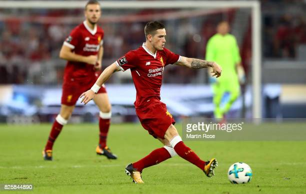 Ryan Kent of Liverpool runs with the ball during the Audi Cup 2017 match between Liverpool FC and Atletico Madrid at Allianz Arena on August 2 2017...