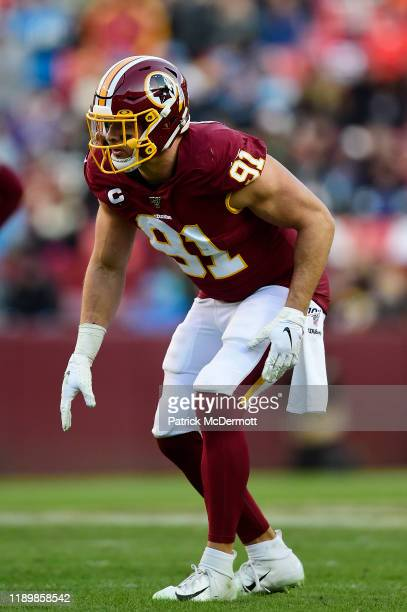 Ryan Kerrigan of the Washington Redskins in action in the second half against the Detroit Lions at FedExField on November 24, 2019 in Landover,...