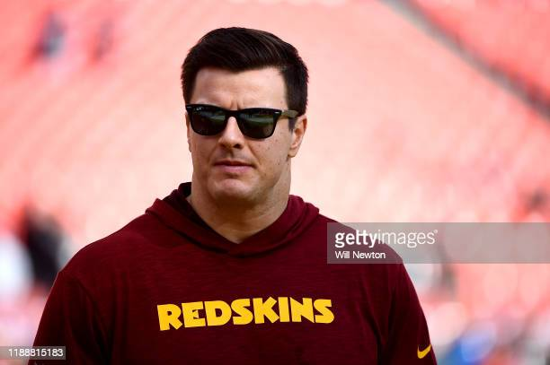 Ryan Kerrigan of the Washington Redskins looks on prior to the game against the Philadelphia Eagles at FedExField on December 15, 2019 in Landover,...