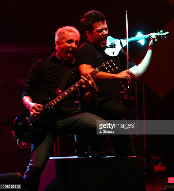 Ryan Key and Sean Mackin of Yellowcard during Yellowcard Performs Live at the Wiltern August 3 2006 at The Wiltern Theater in Los Angeles California...