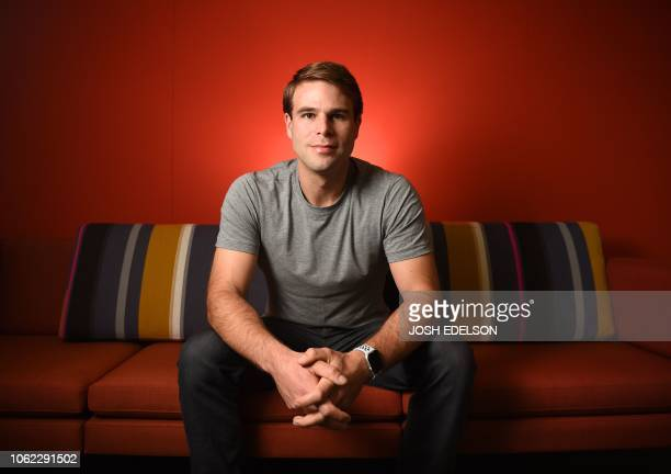Ryan Kramer who cofounded the Donor Sibling Registry with his mother poses for a photo at his office in South San Francisco California on November 1...