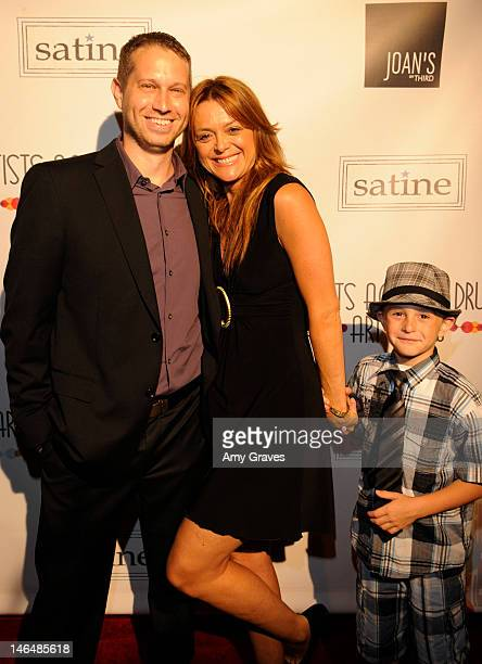 Ryan Kugler Catherine Stroud and Jake Donovan attend the 2nd Annual Artists Against Drugs Art Show at Satine on June 16 2012 in Los Angeles California
