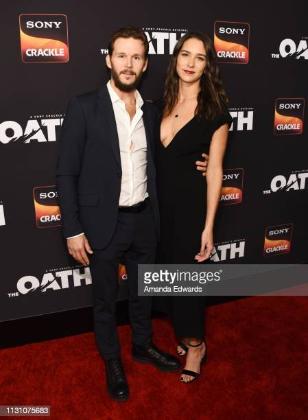 Ryan Kwanten and Ashley Sisino arrive at Sony Crackle's 'The Oath' Season 2 exclusive screening event at Paloma on February 20 2019 in Los Angeles...