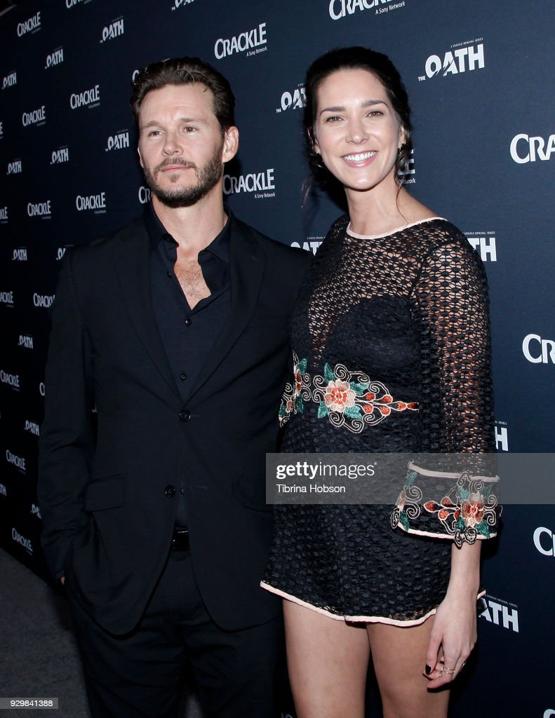 Ryan Kwanten and Ashley Sisino attend the premiere of Crackle's 'The Oath' at Sony Pictures Studios on March 7, 2018 in Culver City, California.